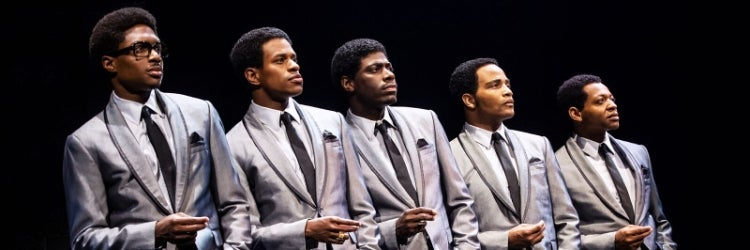 Ephraim Sykes, Jeremy Pope, Jawan M. Jackson, James Harkness & Derrick Baskin in Ain't Too Proud - The Life and Times of The Temptations