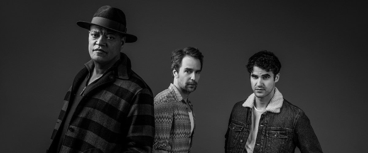 Laurence Fishburne, Sam Rockwell, and Darren Criss