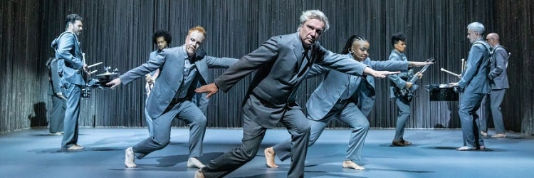 David Byrne and the cast of American Utopia