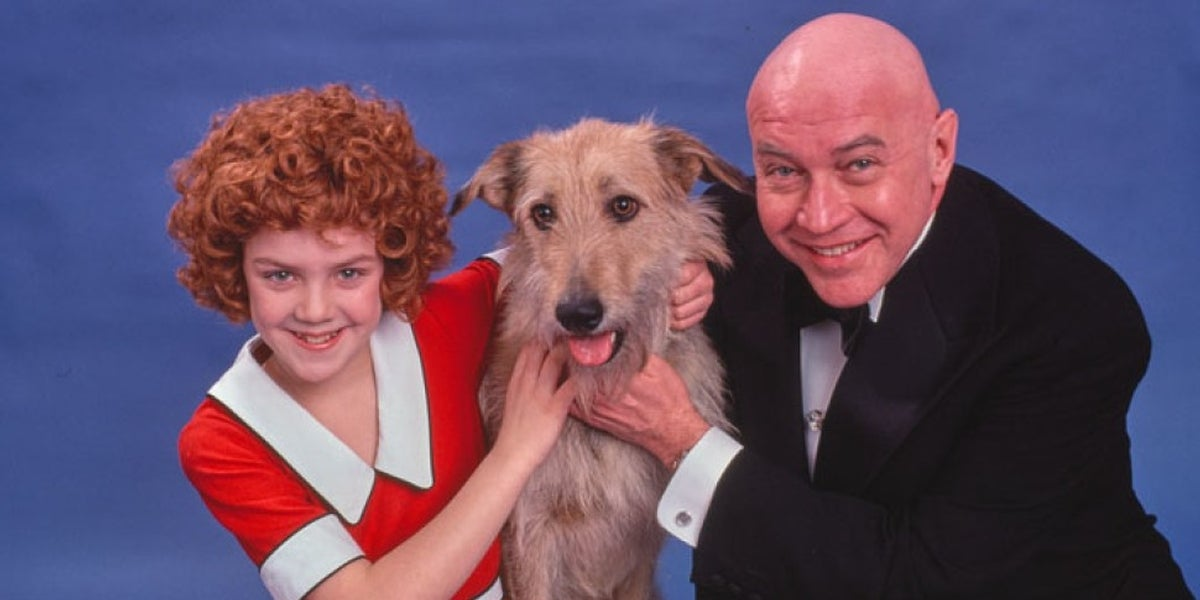 Andrea McArdle and Reid Shelton in Annie