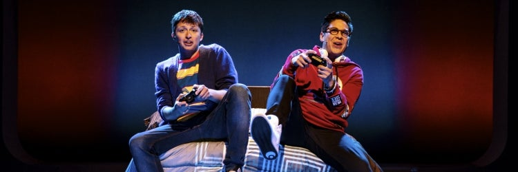 Will Roland & George Salazar in Be More Chill