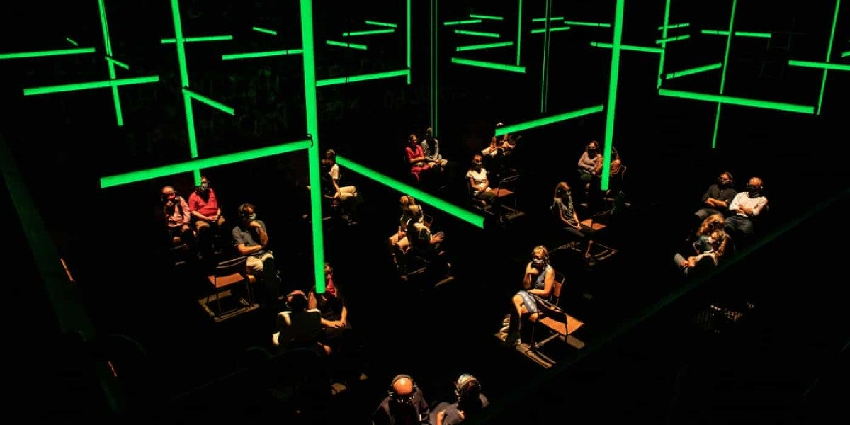 Photo credit: Blindness at the Donmar Warehouse (Photo by Helen Maybanks)