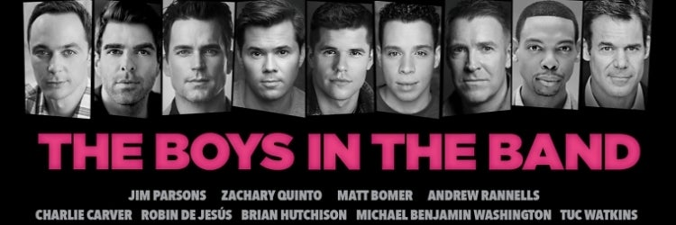 The Broadway cast of The Boys in the Band