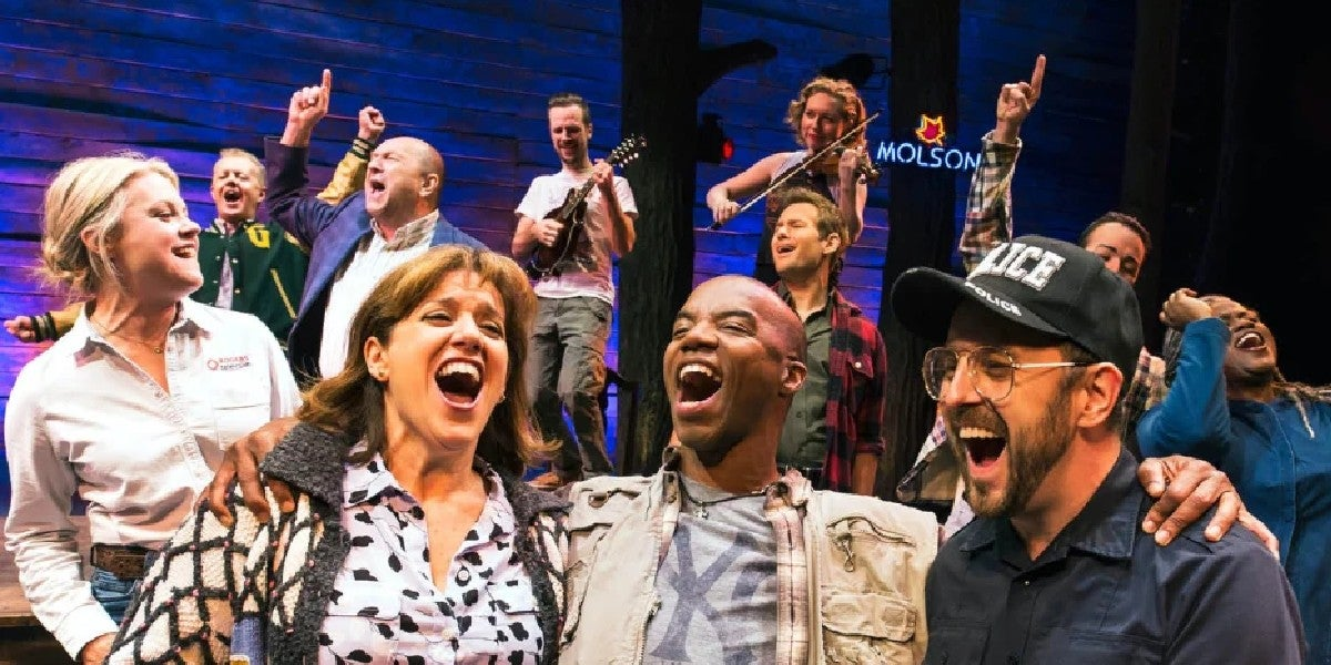 Photo credit: Come From Away cast (Photo by Matthew Murphy)