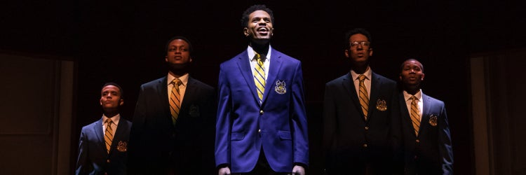 Nicholas L. Ashe, J. Quinton Johnson, Jeremy Pope, Caleb Eberhardt & John Clay III in Choir Boy