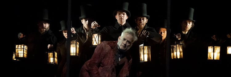Campbell Scott and the Cast of A Christmas Carol