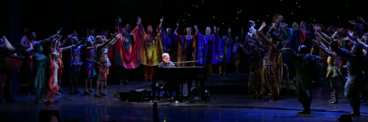 Sir Elton John and the Company of Disney's The Lion King