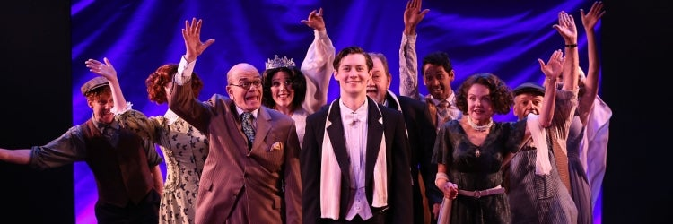 Chris Dwan and the cast of Enter Laughing: The Musical