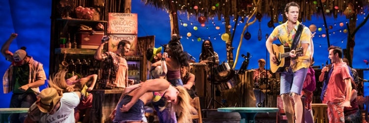 Paul Alexander Nolan and the company of Escape to Margaritaville