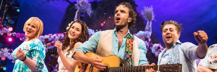 Lisa Howard, Alison Luff, Paul Alexander Nolan & Eric Petersen in Escape to Margaritaville