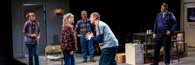 Judith Ivey & Edmund Donovan, with Nina Hellman, Ken Narasaki & Andrew Garman in Greater Clements