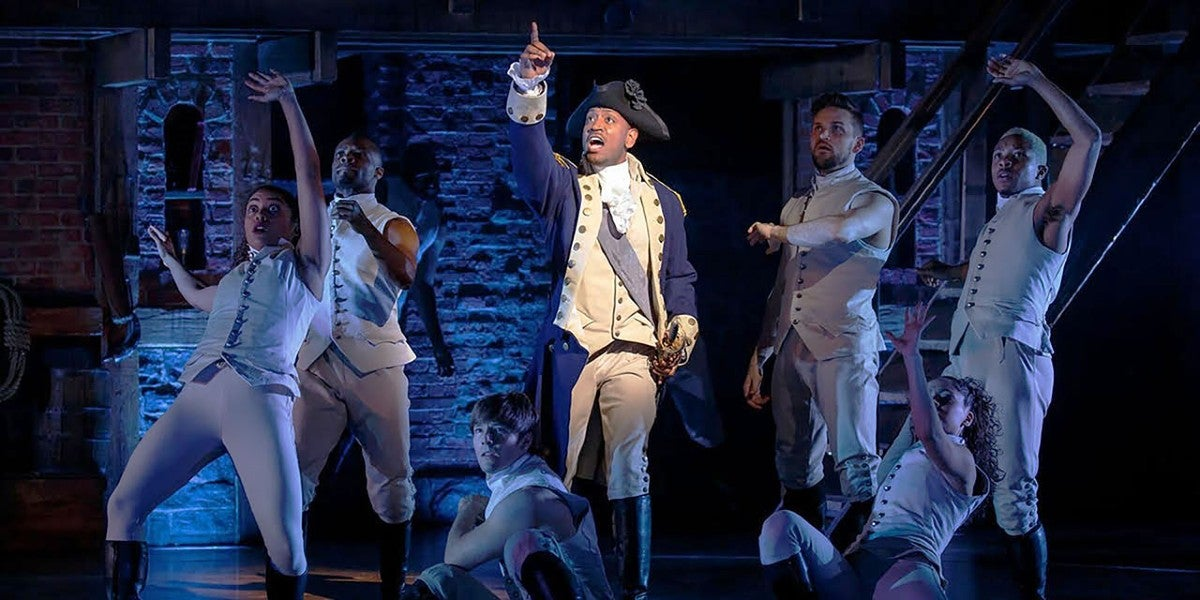 Photo credit: Cast of Hamilton (Photo by Joan Marcus)
