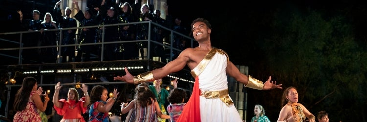 Jelani Alladin and the Cast of Hercules