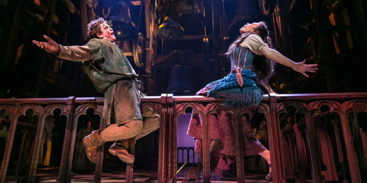 Michael Arden & Ciara Renée in The Hunchback of Notre Dame
