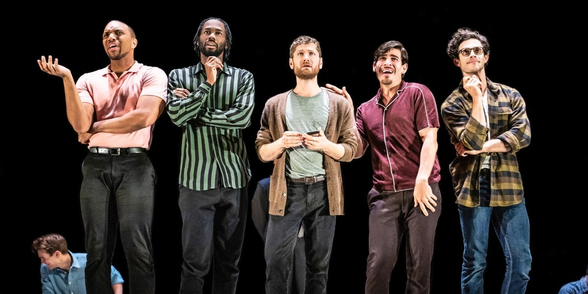 Jordan Barbour, Darryl Gene Daughtry Jr., Kyle Soller, Arturo Luís Soria & Kyle Harris in The Inheritance