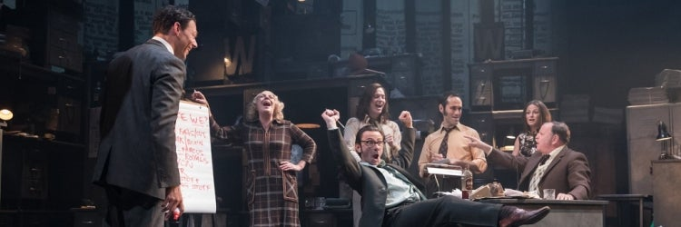 The West End cast of Ink