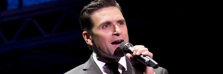 Aaron De Jesus as Frankie Valli in Jersey Boys