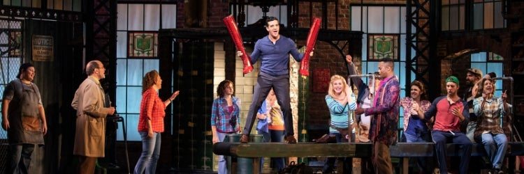 Mark Ballas and the cast of Kinky Boots