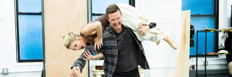Kelli O'Hara & Will Chase in rehearsal for Kiss Me, Kate!