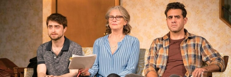 Daniel Radcliffe, Cherry Jones & Bobby Cannavale in The Lifespan of a Fact