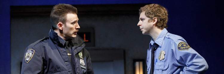 Chris Evans & Michael Cera in Lobby Hero