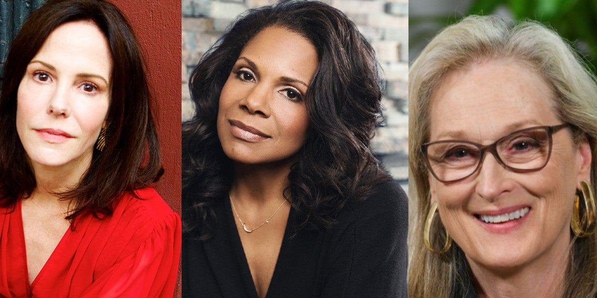 Photo credit: Mary-Louise Parker, Audra McDonald and Meryl Streep (Photos courtesy of IBDB and Rex/Shutterstock)