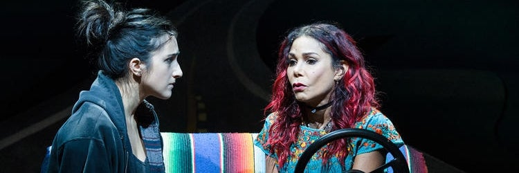 Krystina Alabado & Daphne Rubin-Vega in La Jolla Playhouse's world-premiere production of Miss You Like Hell