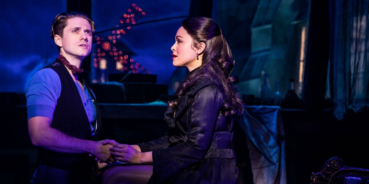 Aaron Tveit & Karen Olivo in Moulin Rouge! The Musical