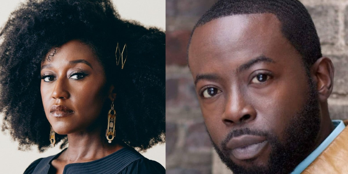 Photo credit: Nana Mensah and Charlie Hudson III (Photos by Stephanie Diani and courtesy of MCC Theater respectively)