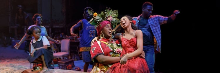 Alex Newell, Hailey Kilgore and the Company of Once on This Island