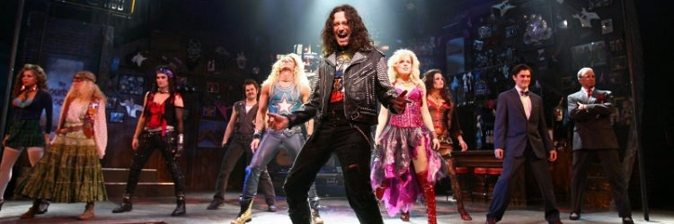 Constantine Maroulis with the original Broadway company of Rock of Ages