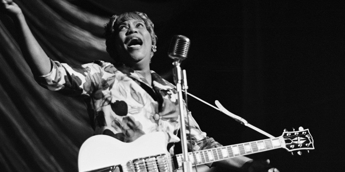Photo credit: Sister Rosetta Tharpe (Photo by Tony Evans/Getty Images)