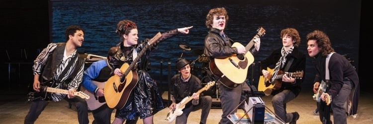 The Cast of Sing Street at New York Theatre Workshop