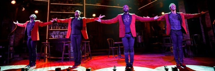 Jelani Remy, Shavey Brown, John Edwards & Dwayne Cooper in Smokey Joe's Cafe