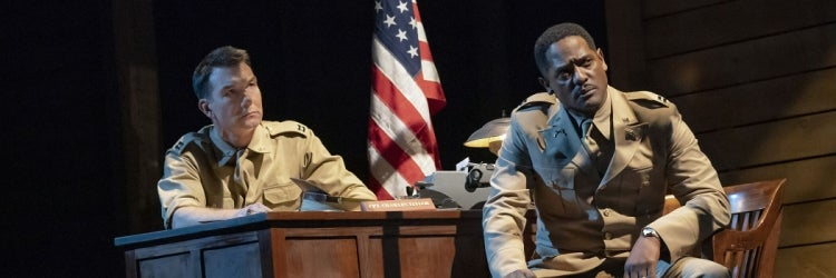 Jerry O'Connell & Blair Underwood in A Soldier's Play