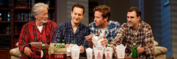Stephen Payne, Josh Charles, Armie Hammer & Paul Schneider in Straight White Men