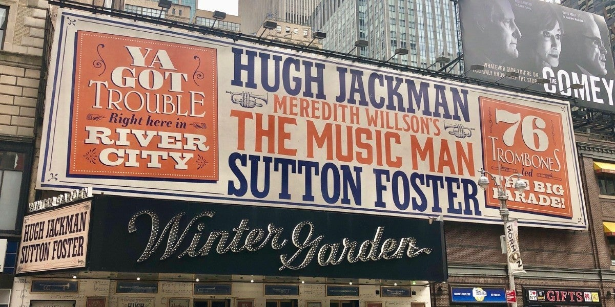 Photo credit: The Music Man at the Winter Garden Theatre (Photo by Gene Reed)