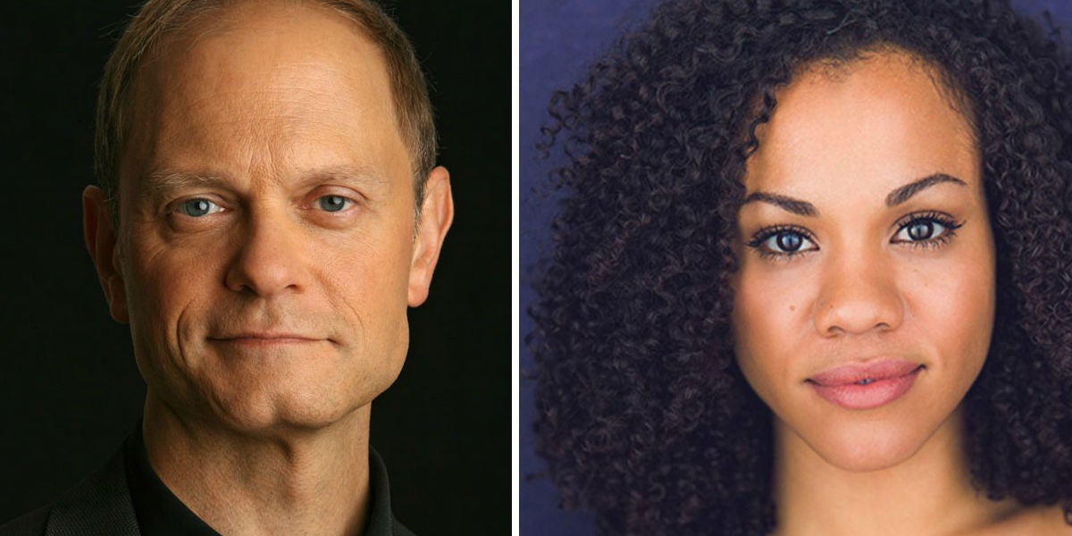 David Hyde Pierce & Alysha Deslorieux