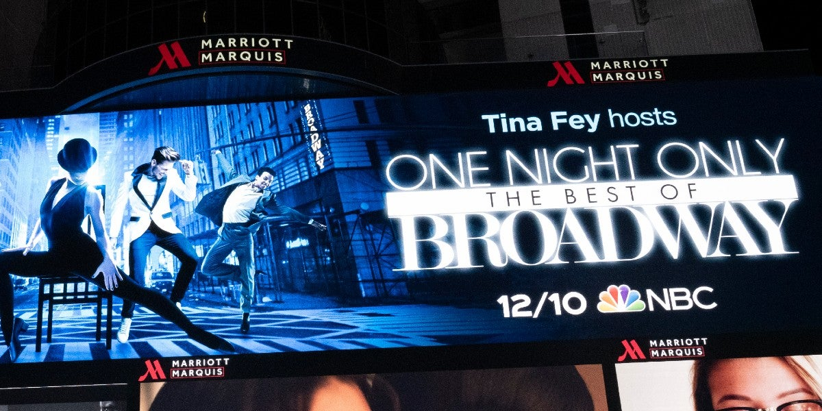 Photo credit: One Night Only: The Best of Broadway Artwork (Photo courtesy of NBCUniversal)
