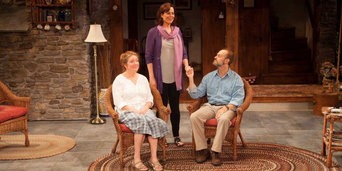 Photo credit: Cast of Vanya and Sonia and Masha and Spike (Photo courtesy of Lincoln Center Theater)
