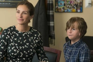 "Julia Roberts & Jacob Tremblay in the 2017 film ""Wonder"""