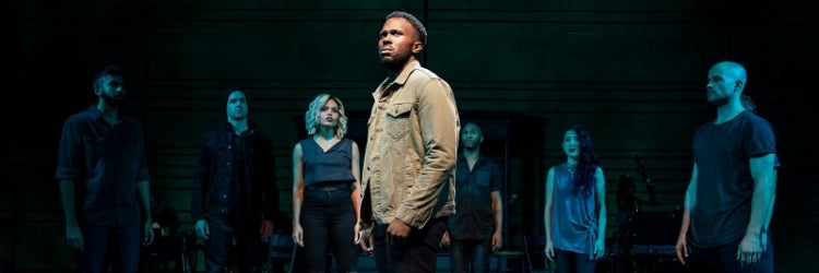 Joshua Henry and the Cast of The Wrong Man
