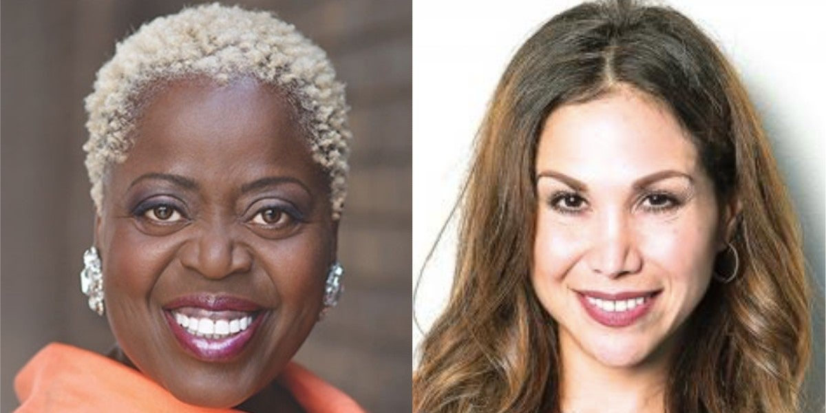 Lillias White and Bianca Marroquin