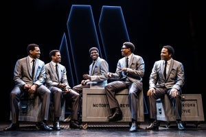 Derrick Baskin, Jeremy Pope, Jawan M. Jackson, Ephraim Sykes & James Harkness in Ain't Too Proud - The Life and Times of The Temptations