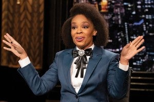 Amber Ruffin on The Amber Ruffin Show (Photo courtesy of NBC)