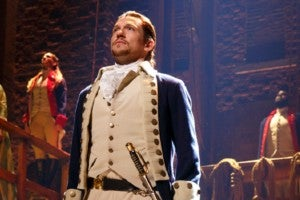 Miguel Cervantes in 'Hamilton' on Broadway. (Photo by Joan Marcus)