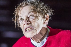 Glenda Jackson in the Old Vic production of King Lear