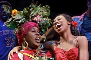 Alex Newell & Hailey Kilgore in Once on This Island