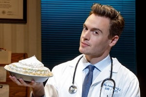 Erich Bergen as Dr. Pomatter in Waitress