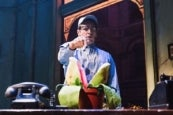Photo credit: Jonathan Groff in Little Shop of Horrors (Photo by Emilio Madrid-Kuser)